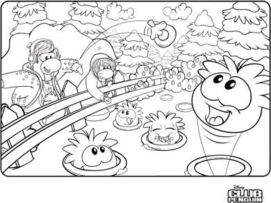 Saraapril In Club Penguin Puffle Feeding Coloring Page