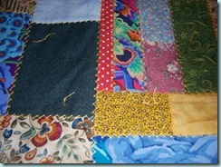 Bonnies Quilt Tied