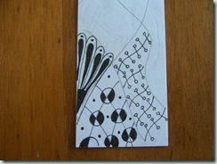 Zentangle bookmark close up