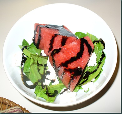 Arugala watermelon goat cheese