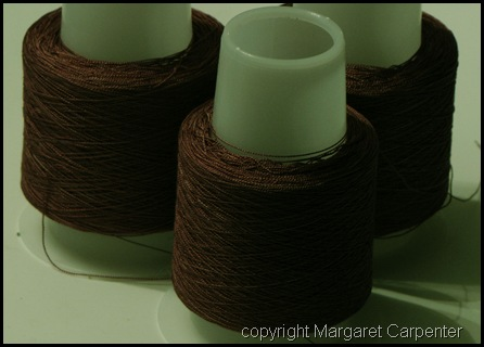 Brown silk warp