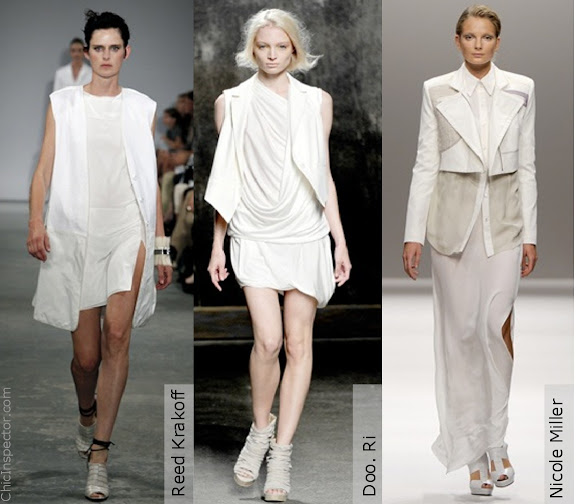 Chic Inspected Trend White Layer Sheer