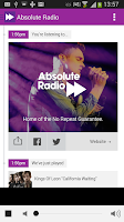 Screenshot of Absolute Radio