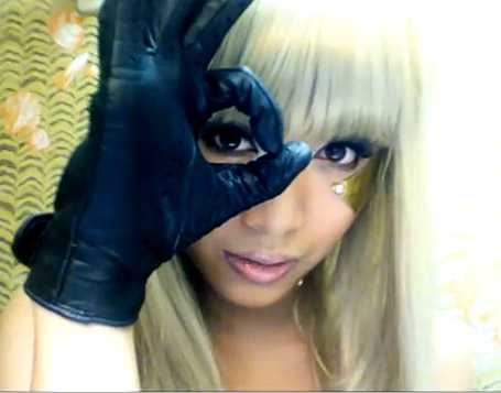 lady gaga poker face makeup. DISFRAZ LADY GAGA POKER FACE