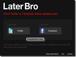 Menjadwal Status Facebook dan Twitter Secara Otomatis