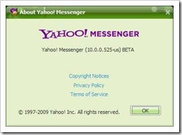 Yahoo messenger 10 beta