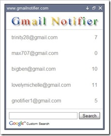 Gmail Notifier - Periksa Inbox Email Dari 5 Akun Gmail Sekaligus