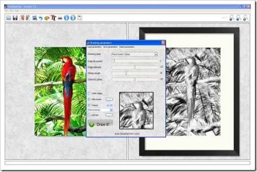 FotoSketcher - Membuat Effect Sketsa, Lukisan Pada Foto