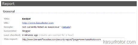 Periksa Alamat Website dari Virus dan Malware