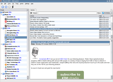 akregator rss feed reader