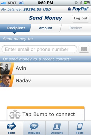 paypal for iphone