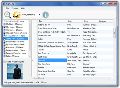Impor Musik Mp3 dan Playlists dari iPod, iPhone dan iPad