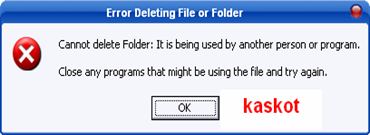 "Mengatasi pesan ""Error Deleting File or Folder"""
