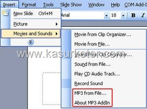 Memasukkan File Mp3 Kedalam Presentasi Microsoft Office PowerPoint