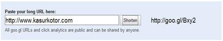 Situs Untuk Pemendek URL Milik Google Goo.Gl