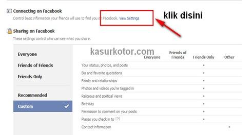 Mengunci Facebook Agar Anda Tidak Bisa di Add