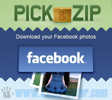 Pick & Zip - Download Semua Foto dari Facebook