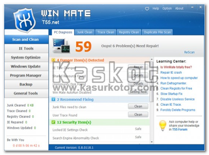 Winmate: Mengoptimalkan Sistem Komputer/Windows System Optimizer