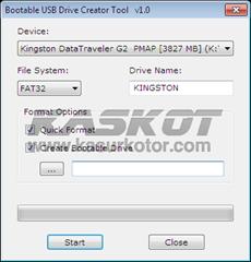 Membuat USB Flash Disk Bootable dengan Bootable USB Drive Creator Tool