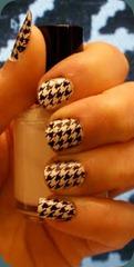 Konad Houndstooth nails