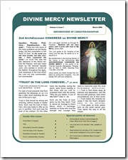 Divine Mercy Newsletter Vol.4,1
