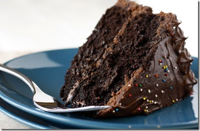 Dark chocolate cake icing