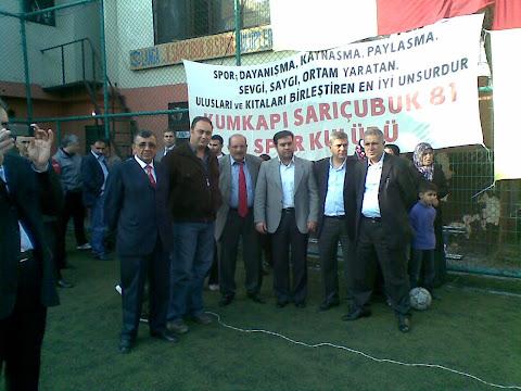 Kumkapı Sarıçubuk 81 Spor Kulübü 2010 - 2011 Sezon Açılışı ( 21.11.2010 ) Resmi Büyük görmek için lütfen Resimin üzerine tıklayınız...