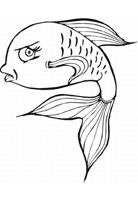 رسومات اسماك للتلوين