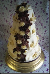4 tier Chocolate ruffle Cake