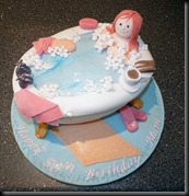 Woman in Bath Cake