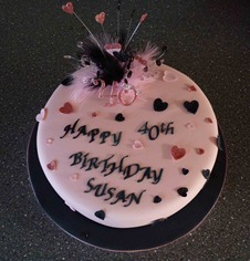 Pink-and-Black-40-birthday-Cake