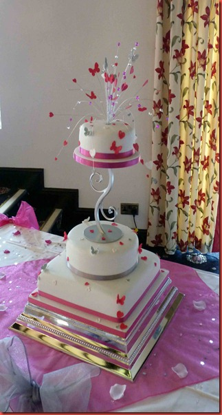 3-tier-pink-heart-and-butterflies-wedding-cake