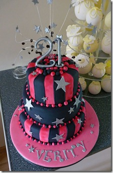 3-tier-pink-and-black-birthday-cake