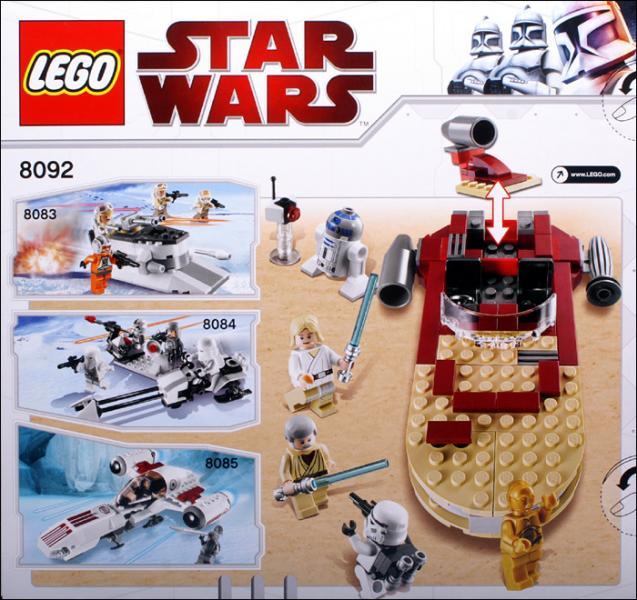 Bricker Construction Toy By Lego 8092 Lukes Landspeeder
