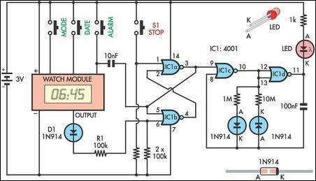 tablet reminder circuit schematic
