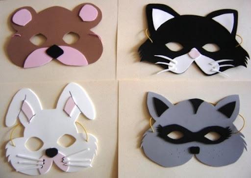 Como hacer mascaras de lobo de fomi - Imagui