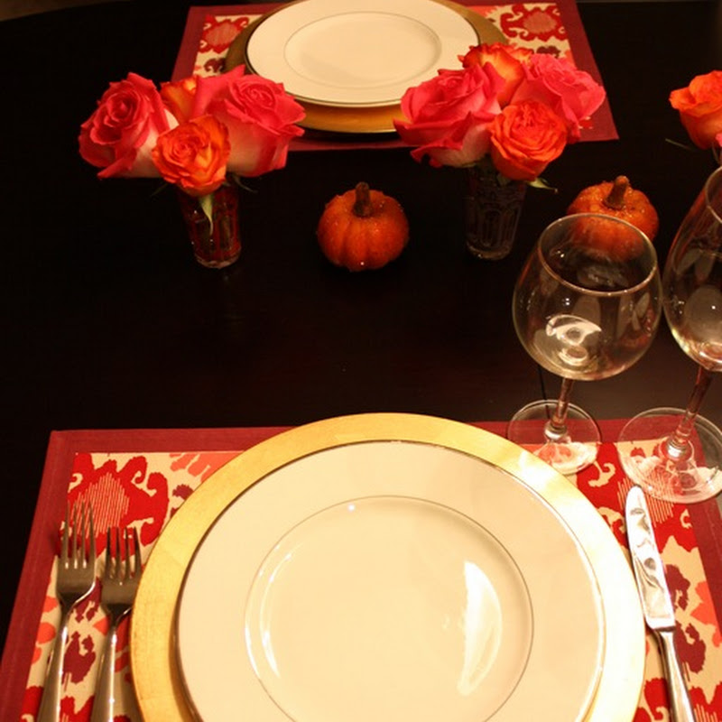 Giving Thanks + Setting a Pretty Table