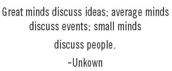quote great minds