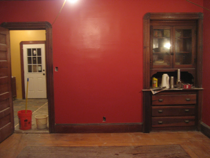 from dining room - Moroccan Red Paint