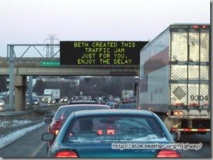 Beth's traffic jam