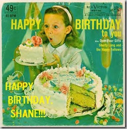 Birthday 45rpm Shane
