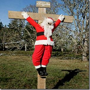 Santa on the cross