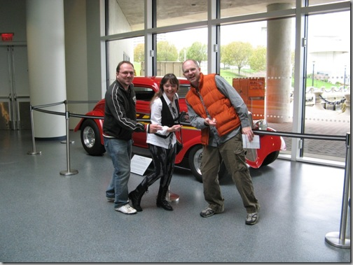 Matt, Beth, Shane with ZZ Top car