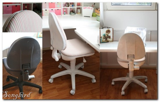 Office chair collage