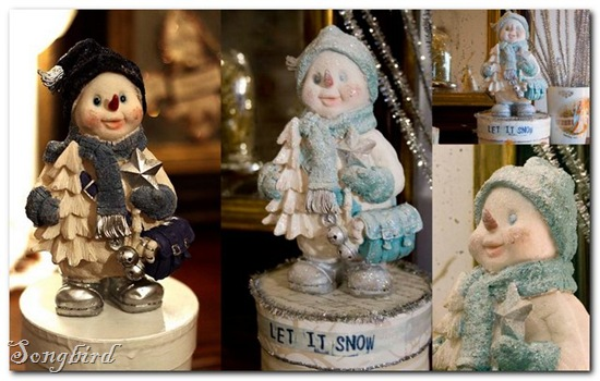 Snow man collage