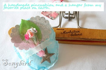 Pincushion and hanger