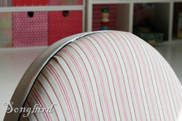 Office chair makeover fabric