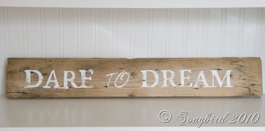 Handpainted guest room sign 4