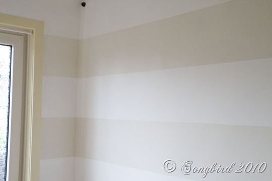 Painted Stripes Light Guest Room