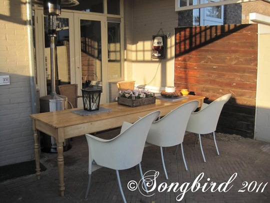 New Patio Table Work In Progress Report Songbird